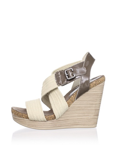 Gunmetal Women's Nora Wedge Sandal (Dark Taupe)