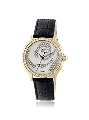 Sophie and Freda Women's SF2705 Monaco Black/White Leather Watch