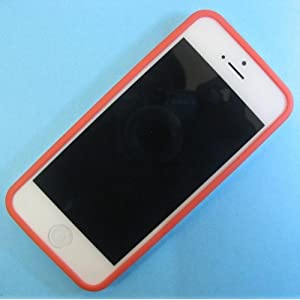 Backless Bumper Case Cover for Apple iPhone 5 - Red