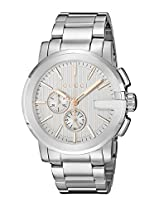 Gucci Mens YA101201 Gucci G - Chrono Collection Analog Display Swiss Quartz Silver Watch