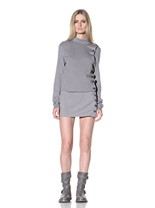 Ann Demeulemeester Women's Side Button Sweater (Pearl)