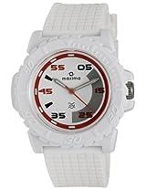 Maxima Analog White Dial Men's Watch - 12029PPGW