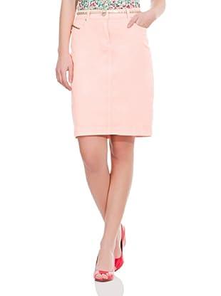 Cortefiel Falda Garment Dyed (Rosa Claro)