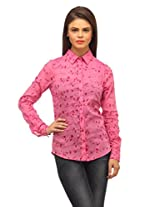 Printed Full Sleeve Shirt - Pink Print