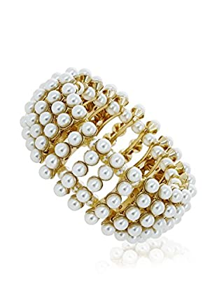 Pearly Armband  gold/weiß