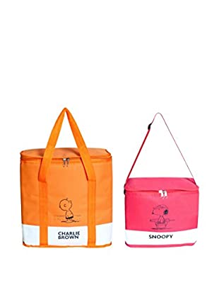 Brunch Time Thermotasche 2 tlg. Set Peanuts orange/rot