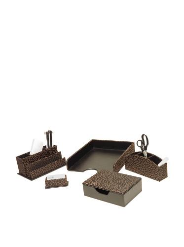Homessence Grecco Desktop Set, Brown/Black