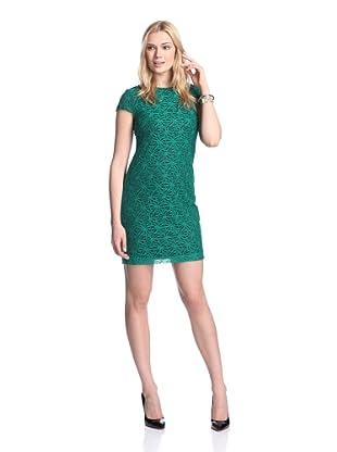 Ivy & Blu Women's Lace Dress (Emerald)
