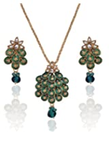Utsavi stylish green pendent set For Women