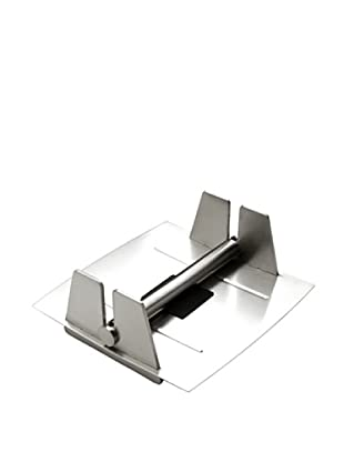 MIU France Brushed Stainless Steel Paper Napkin Holder, Silver
