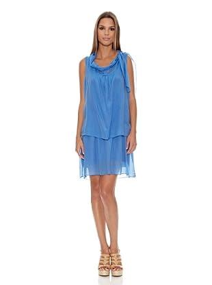 Assuili Vestido Chale (Azul)