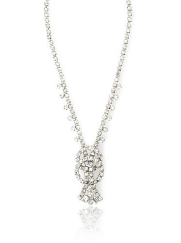 Lulu Frost 1920's Art Deco Circular Center Necklace, Silver