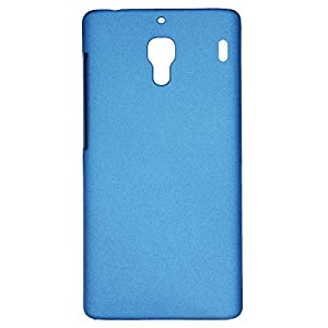 Heartly QuickSand Matte Finish Hybrid Flip Thin Hard Bumper Back Case Cover For Xiaomi Miui Redmi 1S - Mobile Blue
