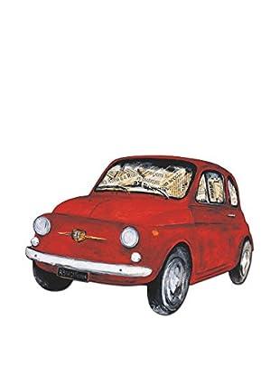 Artopweb Wandbild Lombardino Fiat 500 Bunt