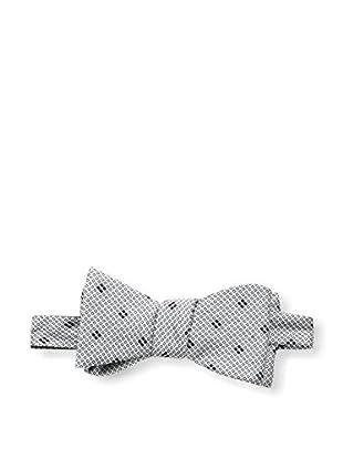 Bruno Piattelli Men's Woven Bow Tie, Silver