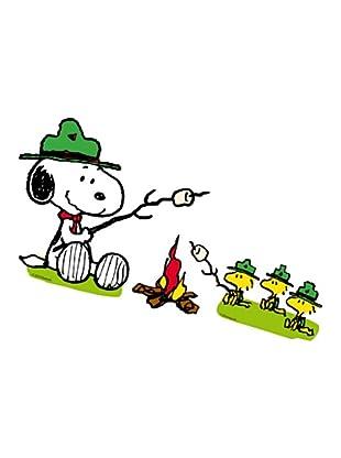 Beiwanda Kids Wandtattoo Snoopy und seine Pfadfinder am Lagerfeuer