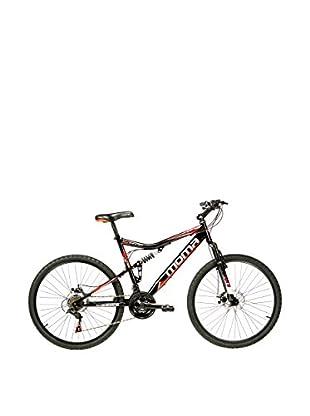 MOMA BIKES Bicicletta Btt 26 Hi-Ten Full Susp. Full Disc 21V Hit1.0 Nero