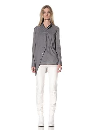 Ann Demeulemeester Women's Double-Button Front Shirt (Pearl)