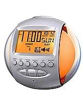 Aptron Nature Sound Alarm Digital Clock with 7 Color LED Flashing Calendar and FM Radio