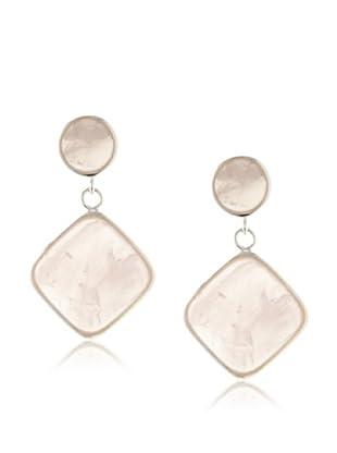 Plukka Women's Rose Quartz Concordia Earrings