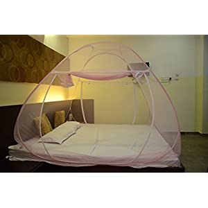 Classic Mosquito Net Fancy Single Bed, pink