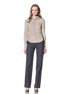 Loro Piana Women's Suede Button-Up (Beige)