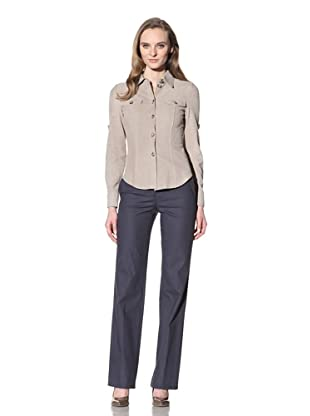Loro Piana Women's Suede Button-Up (Beige)