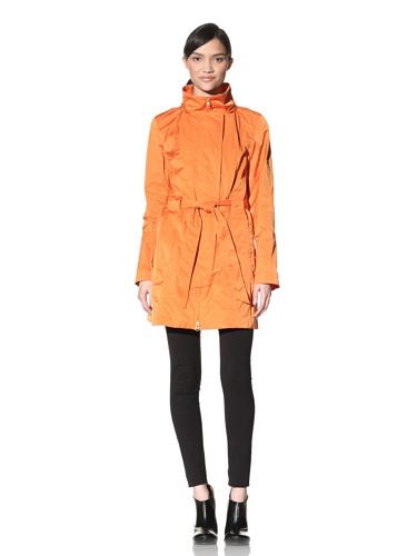 Rainforest Women's Belted Raincoat (Tangerine)