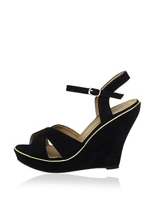 Buffalo Girl 311795 SY SUEDE 140890 - Zapatos de pulsera  mujer (Negro)