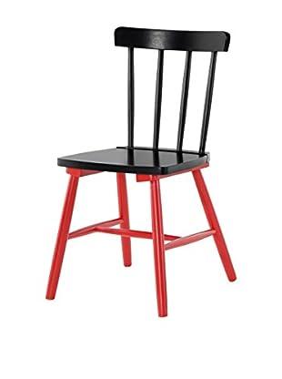 Stuhl 2er Set Kaos schwarz/rot