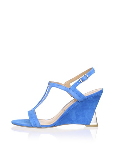 Sigerson Morrison Women's Dynn Wedge Sandal (Blue)