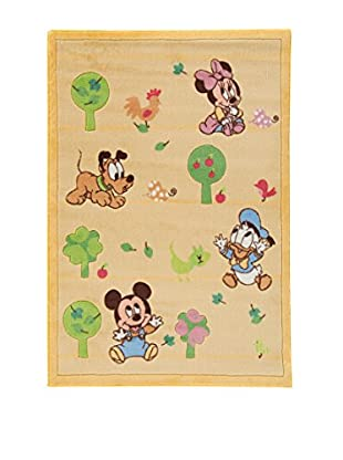 Abc Alfombra Comfort Line Mickey Baby Friends Crema 133 x 190 cm