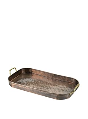 Old Dutch International Oblong Tray with Cast Brass (Antique Copper)