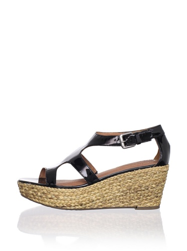 Corso Como Women's Parable Wedge Sandal (Black Patent)