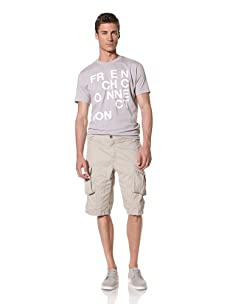 French Connection Men's Peached Lightweight Cargo Short (Sisal)