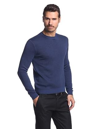 Calvin Klein Collection Men's Abstract Print Iris Crew Sweater (Iris)