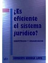 Es Eficiente El Sistema Juridico?: Constitucion y Organizacion