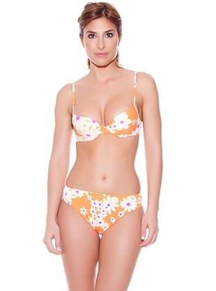 Teleno Bikini Con Aro Y Foam (Naranja)