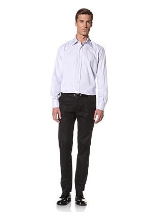 Valentino Men's Dress Shirt (Light Blue/White Pattern)