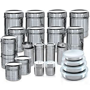 Branded 44 Pcs. Stainless Steel Storage Set