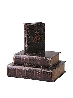 Set of 3 Hamlet Decorative Book Boxes