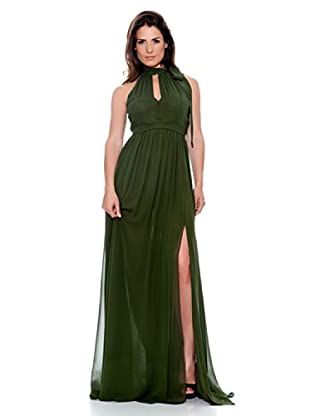 Caramelo Vestido Largo (Verde Botella)