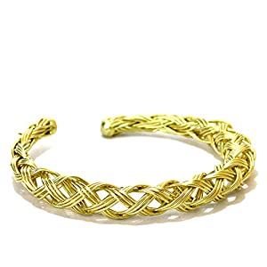 Daamak Jewellery Cuff Bracelet With Entwined Design