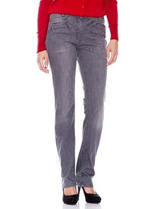 Steilmann Pantalón Vaquero Bolsillos Con Aplicaciones (gris)