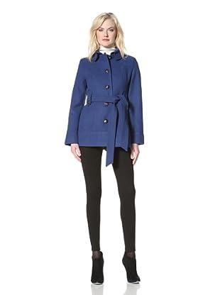 Kensie Women's Single-Breasted Jacket with Belt (Cobalt)