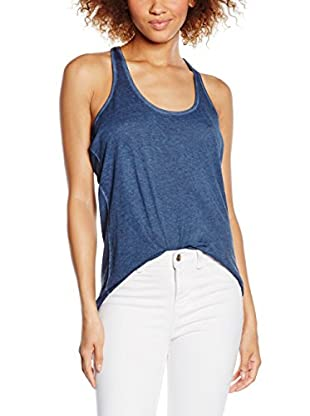 EDC by Esprit Women's Rn Tank Pri to Plain Sleeveless T-Shirt, Blue (Navy), X-Large