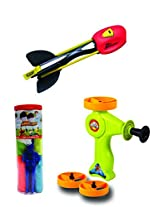 Aeromax Sky Scraper, Sky Blaster and Tangle Free Parachute Flying Toy (3 Piece Bundle)