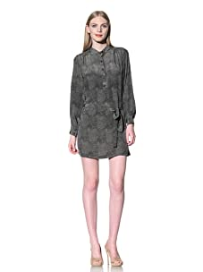 Rebecca Minkoff Women's Stone Python Print Dress (Green)