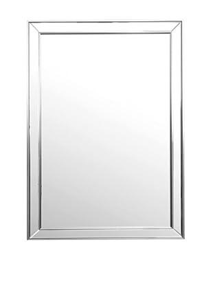 Abbyson Living Aria Rectangle Wall Mirror, Silver