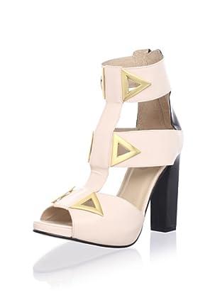 Kat Maconie Women's Sylvia Triangular Accent Platform Sandal (Blush)